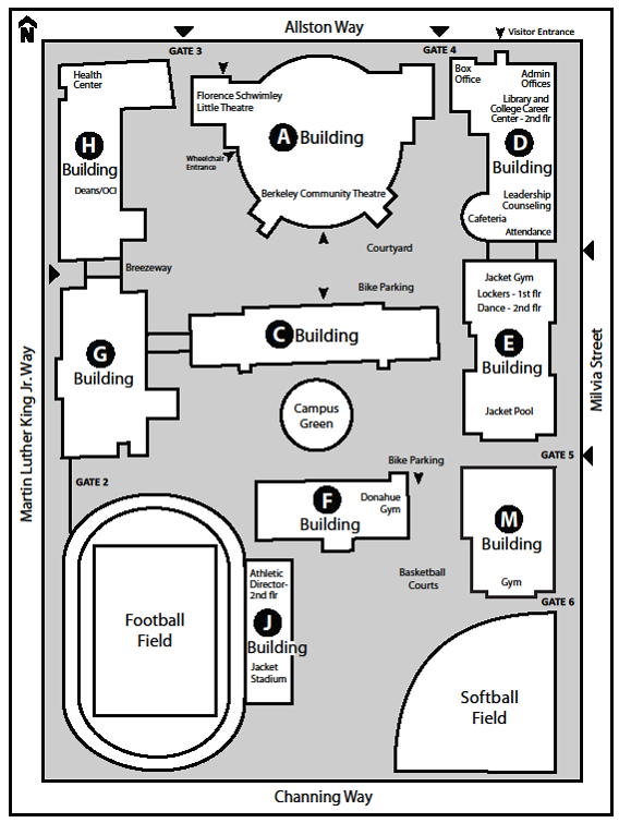 Campus Map Berkeley High School