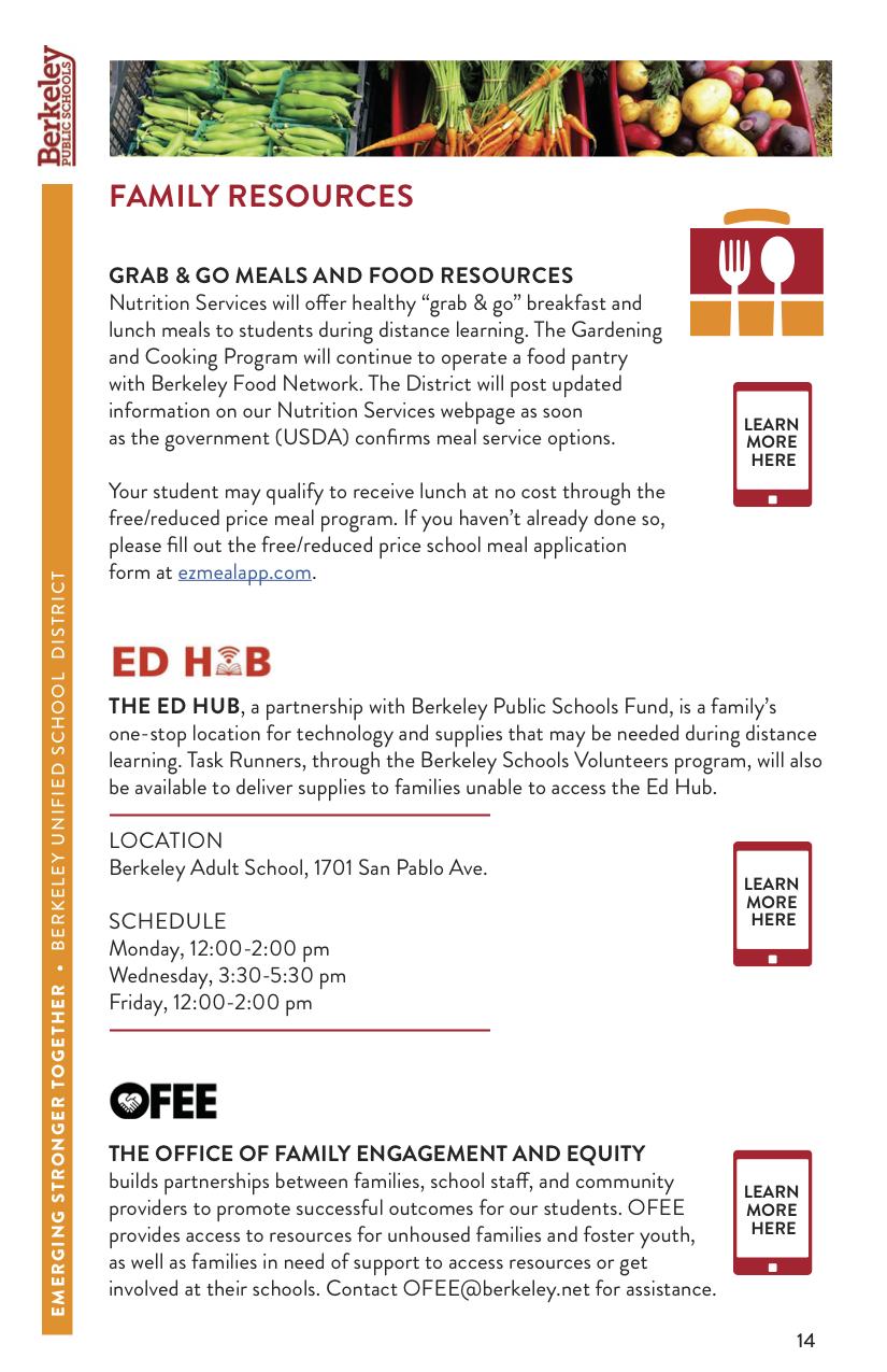 Images of Berkeley Unified School District Calendar 2021-2022