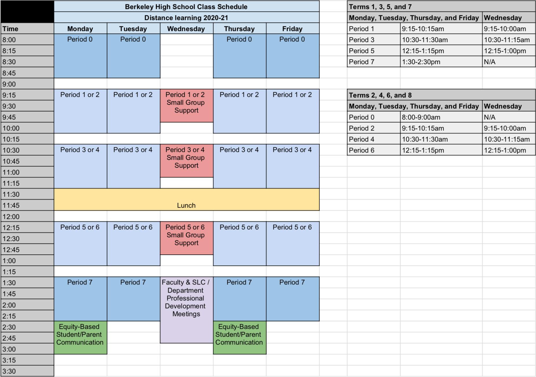 Berkeley Unified School District Calendar 2021-2022 Background